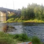 Вид на мост со стоянки в конце порога АССУ