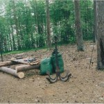 Якорь, который стоял на берегу озера Столовое (Столбовое)