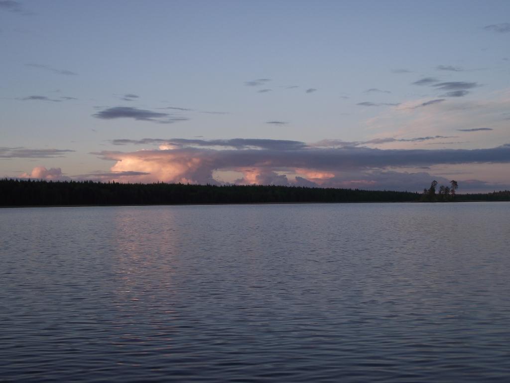 Закат на МуромОзере