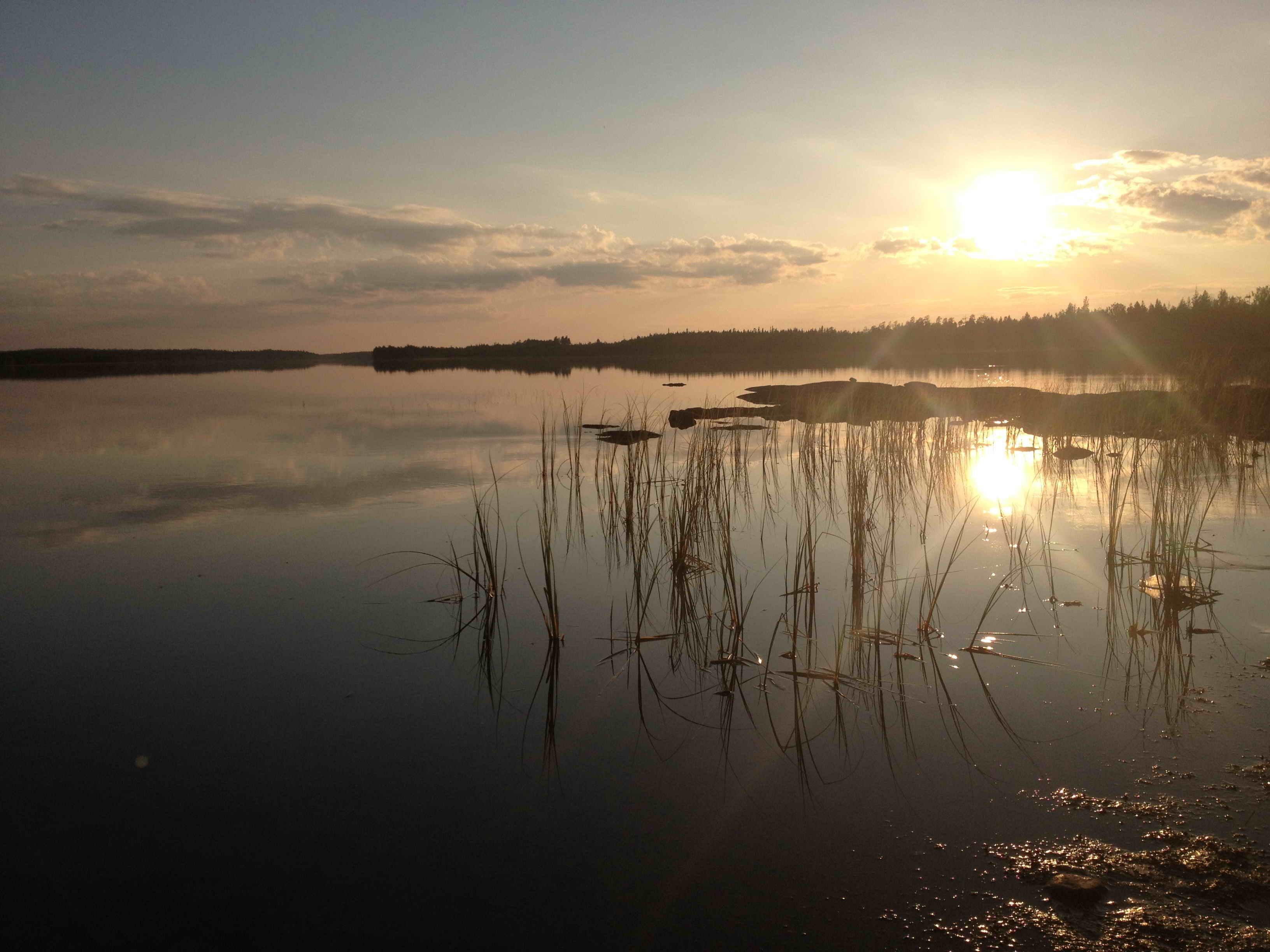 закат на ЭнгОзере