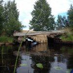 обвалившийся мост на Пильдозере