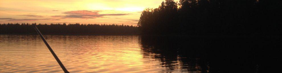 закат на реке Воньга